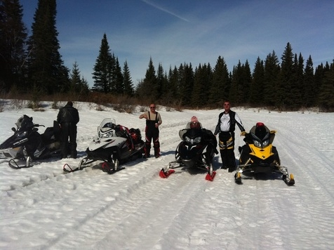 Snowmobiling in Manitoba, Canada